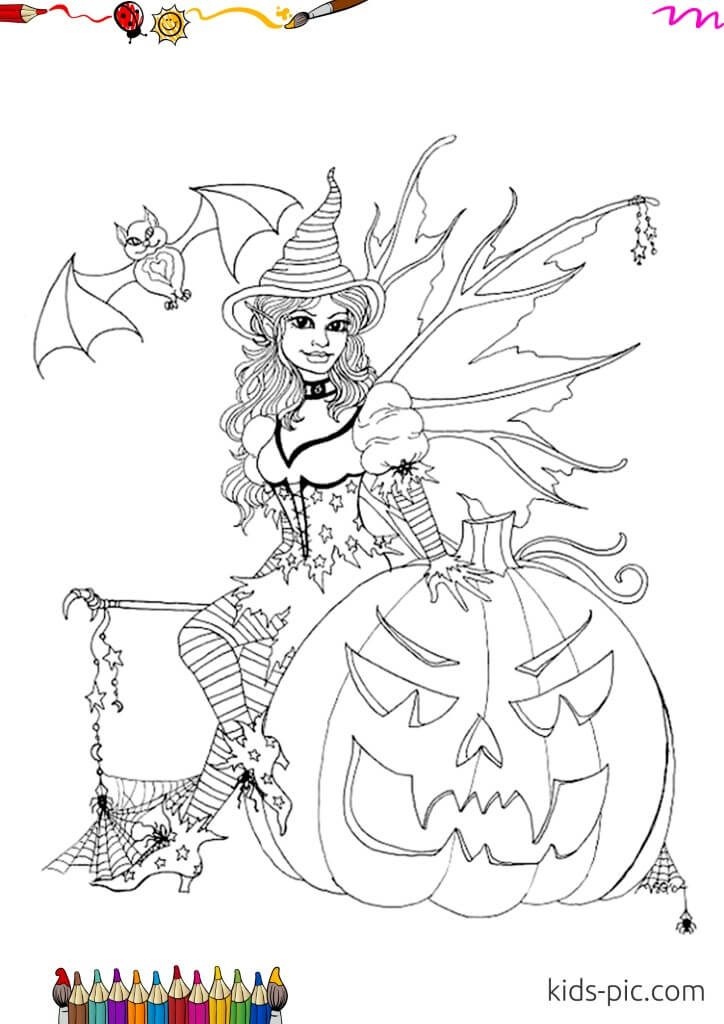 halloween witch images for coloring