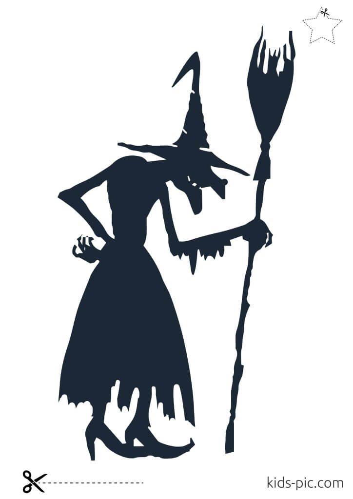 halloween pumpkin witch stencils