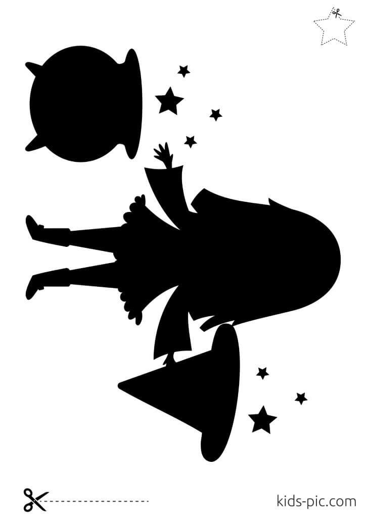 free halloween witch stencils