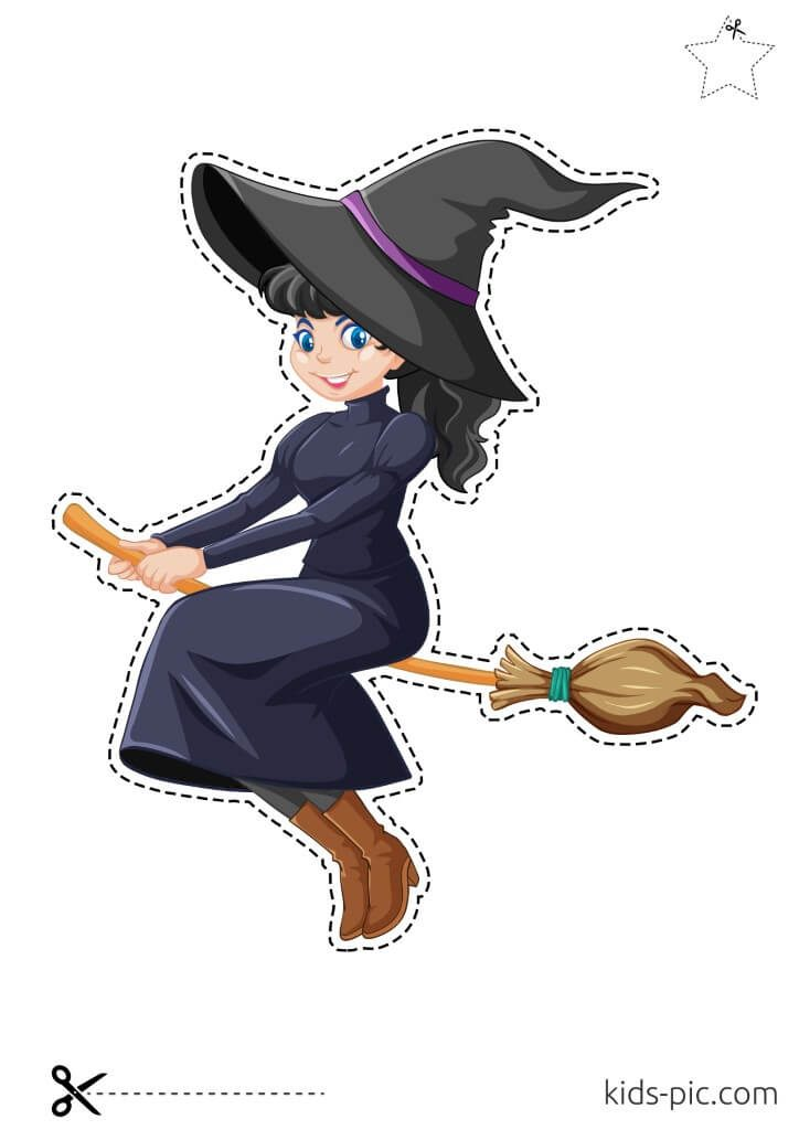 красивая ведьма на метле картинки