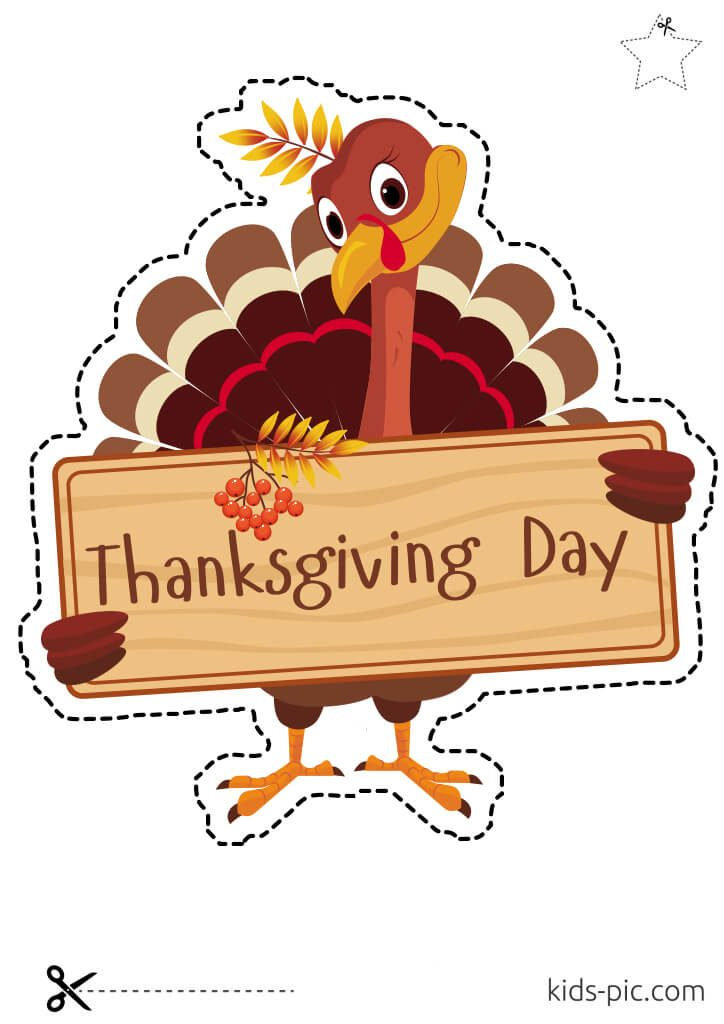 happy thanksgiving day images to cut out