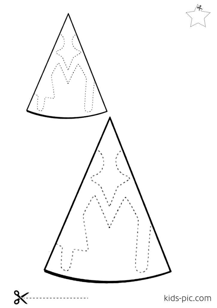 paper doll chain cut-out template
